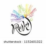 reiki energy. logotype. healing ... | Shutterstock .eps vector #1152601322