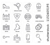set of 16 icons such as loupe ...