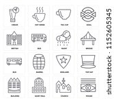 set of 16 icons such as pound ...