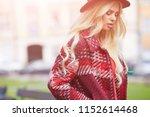 beautiful girl enjoying the... | Shutterstock . vector #1152614468