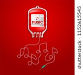 blood bag red color with music... | Shutterstock .eps vector #1152615545