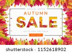 banner for autumn sale in frame ... | Shutterstock .eps vector #1152618902