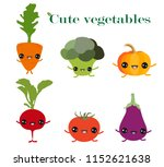a set of joyful funny cute... | Shutterstock .eps vector #1152621638