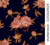 seamless pattern with peony and ... | Shutterstock .eps vector #1152625625
