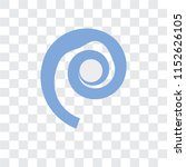 seashell vector icon isolated...   Shutterstock .eps vector #1152626105