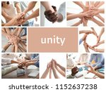 set with people demonstrating... | Shutterstock . vector #1152637238