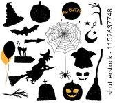 halloween vector elements for... | Shutterstock .eps vector #1152637748