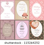 vector pattern for wedding... | Shutterstock .eps vector #115264252