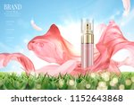 cosmetic spray ads with flying... | Shutterstock .eps vector #1152643868