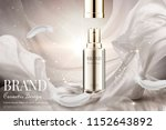 open lid skincare spray with... | Shutterstock .eps vector #1152643892
