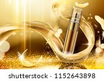 golden skincare spray with... | Shutterstock .eps vector #1152643898