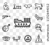 set of 13 transparent icons... | Shutterstock .eps vector #1152644012