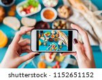 woman taking a photo of...   Shutterstock . vector #1152651152