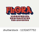 vector of stylized modern font... | Shutterstock .eps vector #1152657752