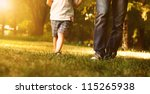 close up image of father and... | Shutterstock . vector #115265938