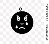 cry vector icon isolated on... | Shutterstock .eps vector #1152661652