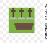 cemetery vector icon isolated... | Shutterstock .eps vector #1152663752