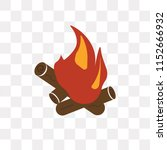 bonfire vector icon isolated on ... | Shutterstock .eps vector #1152666932