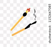 match vector icon isolated on... | Shutterstock .eps vector #1152667085