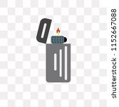 lighter vector icon isolated on ... | Shutterstock .eps vector #1152667088