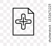 add new document vector icon...   Shutterstock .eps vector #1152671225