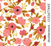 seamless floral background with ... | Shutterstock .eps vector #1152677645