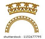 golden ornamental segment  ...   Shutterstock . vector #1152677795