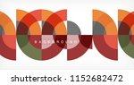 minimal circle abstract... | Shutterstock .eps vector #1152682472