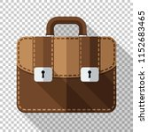 leather briefcase icon in flat... | Shutterstock .eps vector #1152683465