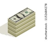 bundle of hundred dollar bill ... | Shutterstock .eps vector #1152684278