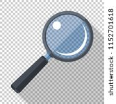 magnifying glass icon in flat... | Shutterstock .eps vector #1152701618