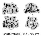 halloween card typography and... | Shutterstock .eps vector #1152707195