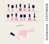 nail polish assortment of pink... | Shutterstock .eps vector #1152708428