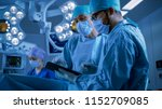 professional surgeons and... | Shutterstock . vector #1152709085