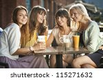 Group Of Young Women Drinking...