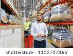 logistic business  shipment and ...   Shutterstock . vector #1152717365