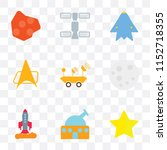 set of 9 simple transparency... | Shutterstock .eps vector #1152718355