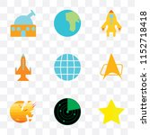 set of 9 simple transparency... | Shutterstock .eps vector #1152718418