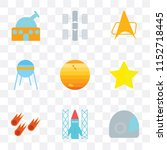 set of 9 simple transparency... | Shutterstock .eps vector #1152718445