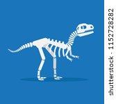 dinosaur skeleton flat design... | Shutterstock .eps vector #1152728282
