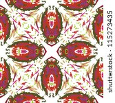 vector seamless abstract... | Shutterstock .eps vector #115273435