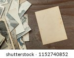 stack old photos on table. mock ... | Shutterstock . vector #1152740852