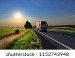 truck transportation on the... | Shutterstock . vector #1152743948
