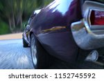 a fast moving passenger car on...   Shutterstock . vector #1152745592
