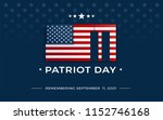 patriot day background with usa ... | Shutterstock .eps vector #1152746168