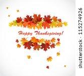 banner for the thanksgiving... | Shutterstock .eps vector #115274926