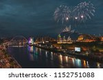 fireworks in newcastle upon...   Shutterstock . vector #1152751088