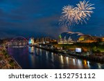 fireworks in newcastle upon...   Shutterstock . vector #1152751112