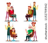 hairdresser with client set... | Shutterstock .eps vector #1152759542