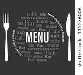 menu design for restaurant | Shutterstock .eps vector #115276006